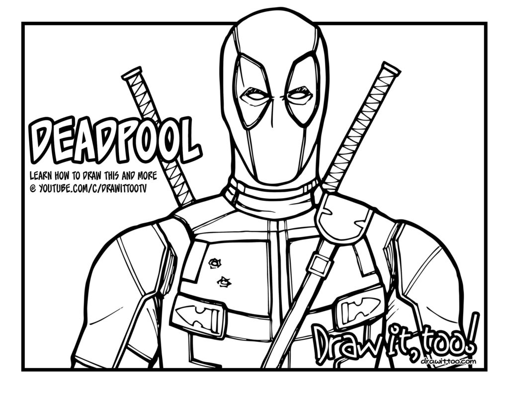 Deadpool Coloring Pages: Deadpool Comic Coloring Pages Coloring Pages