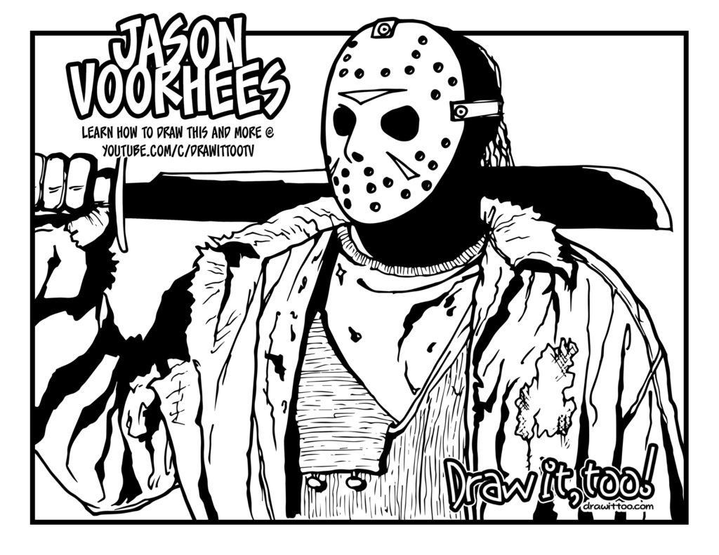 coloring pages of jason - photo#27