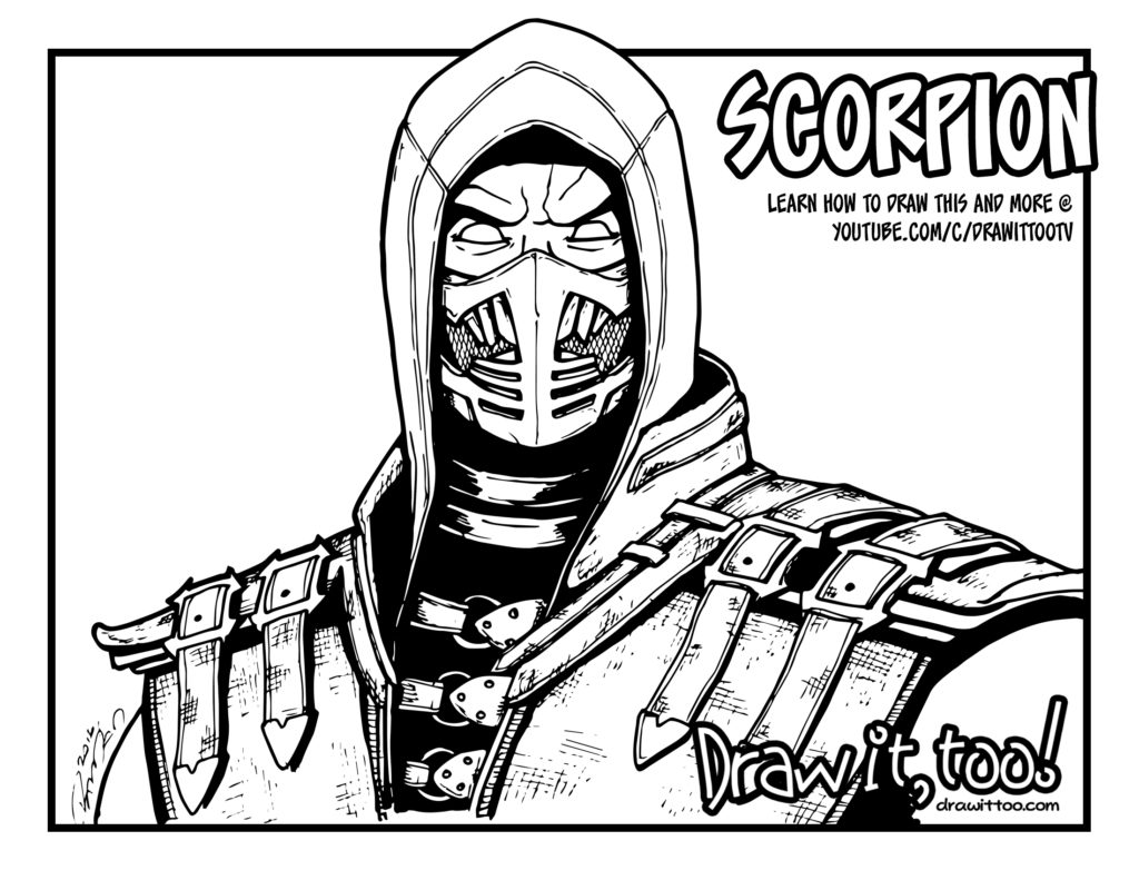 Get over here draw it too for Scorpion coloring page