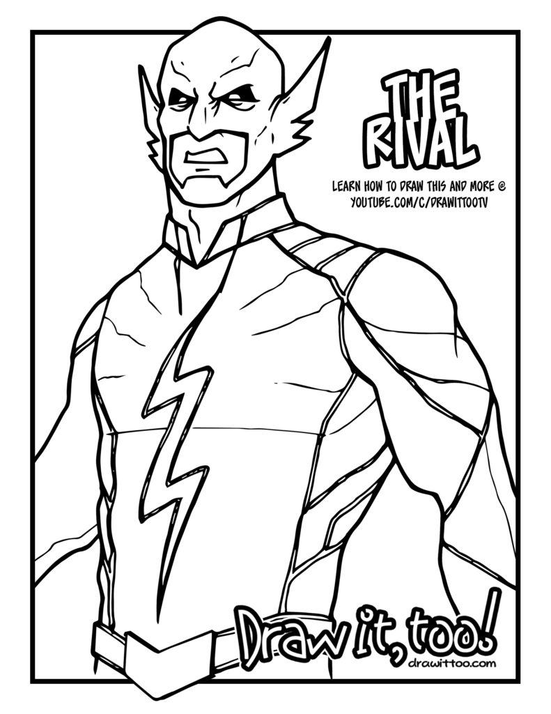 Flash Vs Reverse Flash Coloring Pages