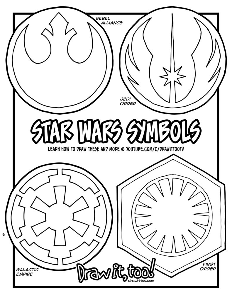 the symbols in the star wars movies u2013 draw it too