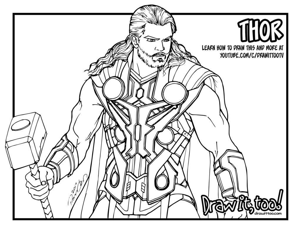 Thor Avengers Age Of Ultron Draw It Too