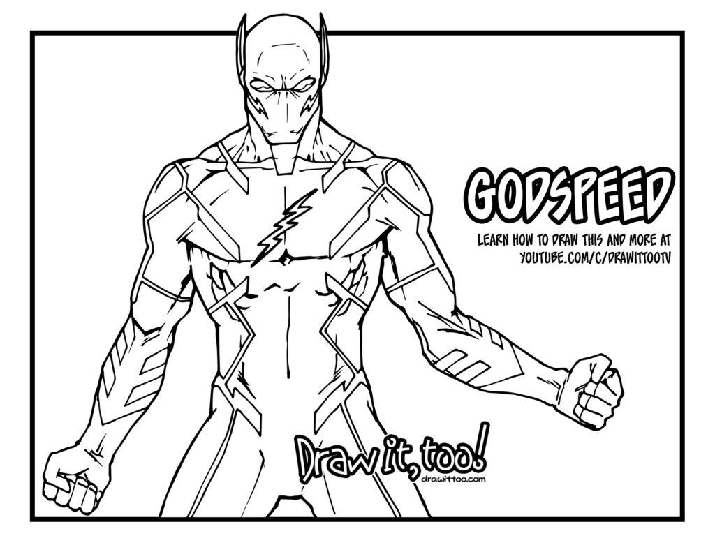 godspeed the flash dc rebirth comic version u2013 draw it too