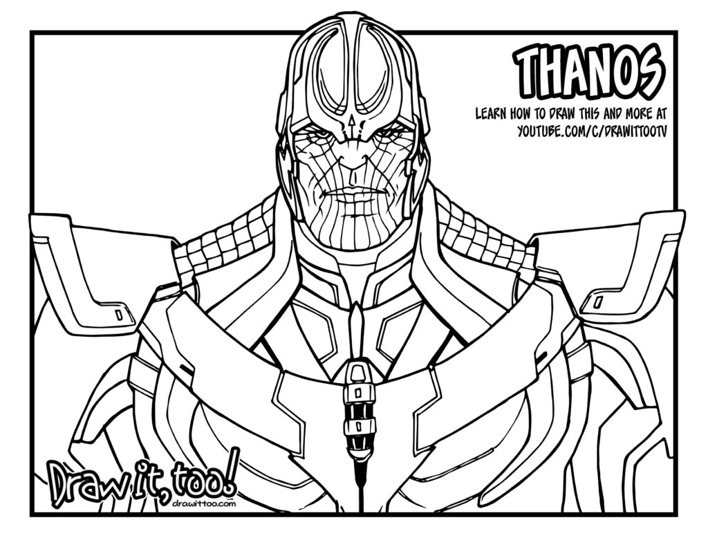Superhero Thanos Coloring Pages: Thanos (Marvel Cinematic Universe)