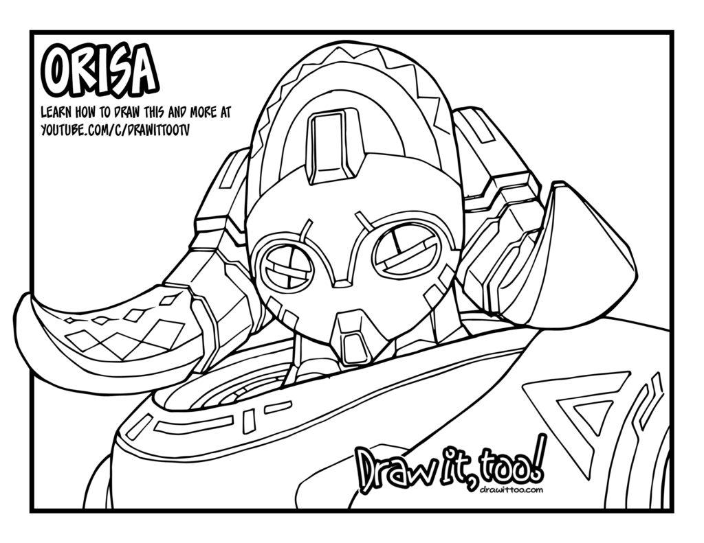orisa overwatch tutorial u2013 draw it too
