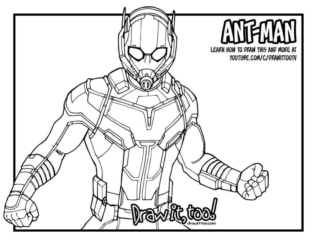 Ant Man Giant Man Captain America Civil War Drawing Tutorial