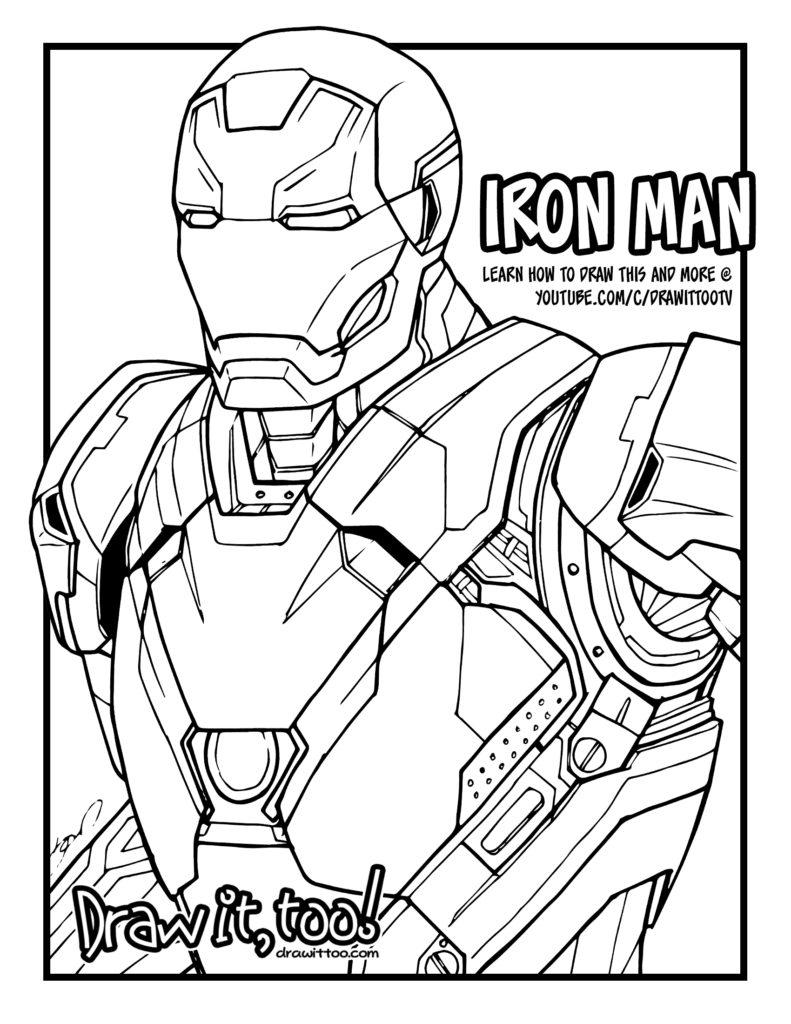 iron man mark 46 captain america civil war tutorial draw it too