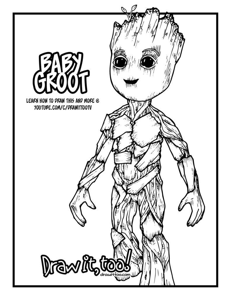 Baby Groot Guardians of the Galaxy Vol 2 Drawing