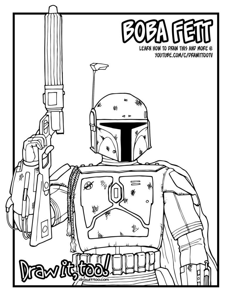 Boba Fett (Star Wars) Drawing Tutorial | Draw it, Too!Boba Fett Drawing Tutorial