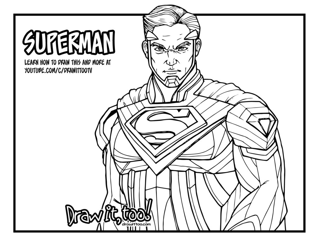 batman vs superman injustice coloring pages | How to Draw SUPERMAN (Injustice 2) | Narrated Easy Step-by ...