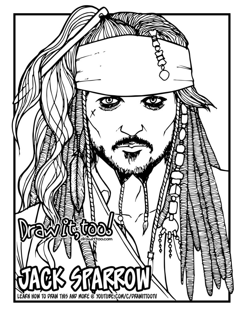 coloring pages jack sparrow - photo#8