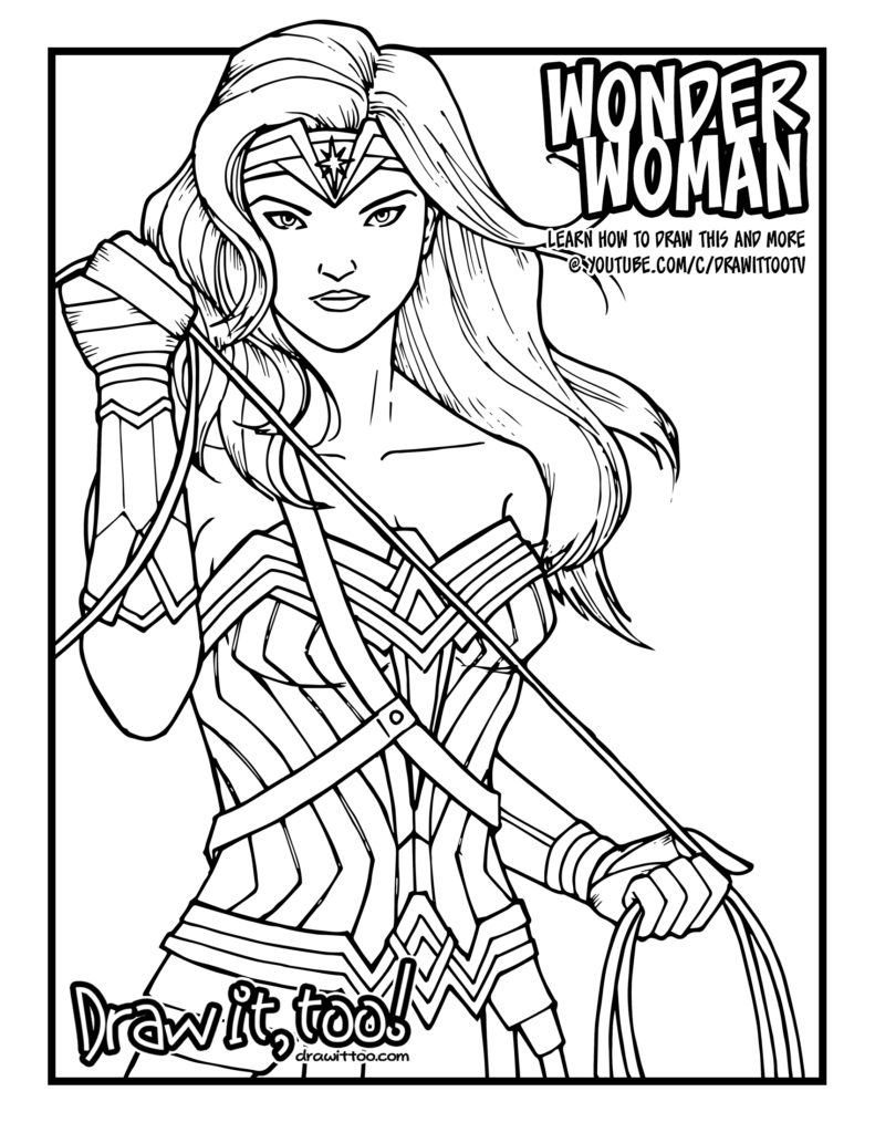 How to draw wonder woman wonder woman 2017 movie for Wonder woman coloring pages