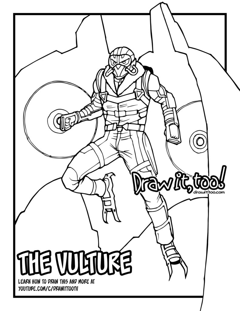 Coloring Page Vulture