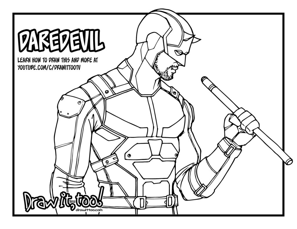 daredevil coloring pages - photo#10