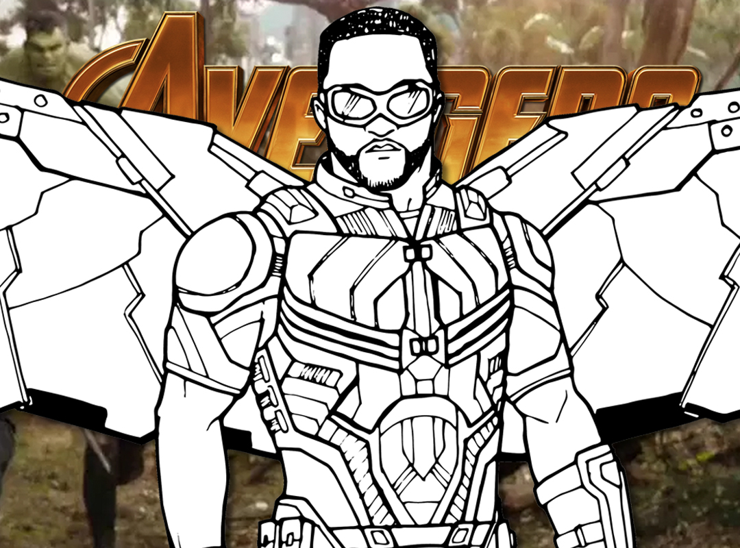 How To Draw FALCON (Avengers Infinity War) Drawing Tutorial | Draw It Too!