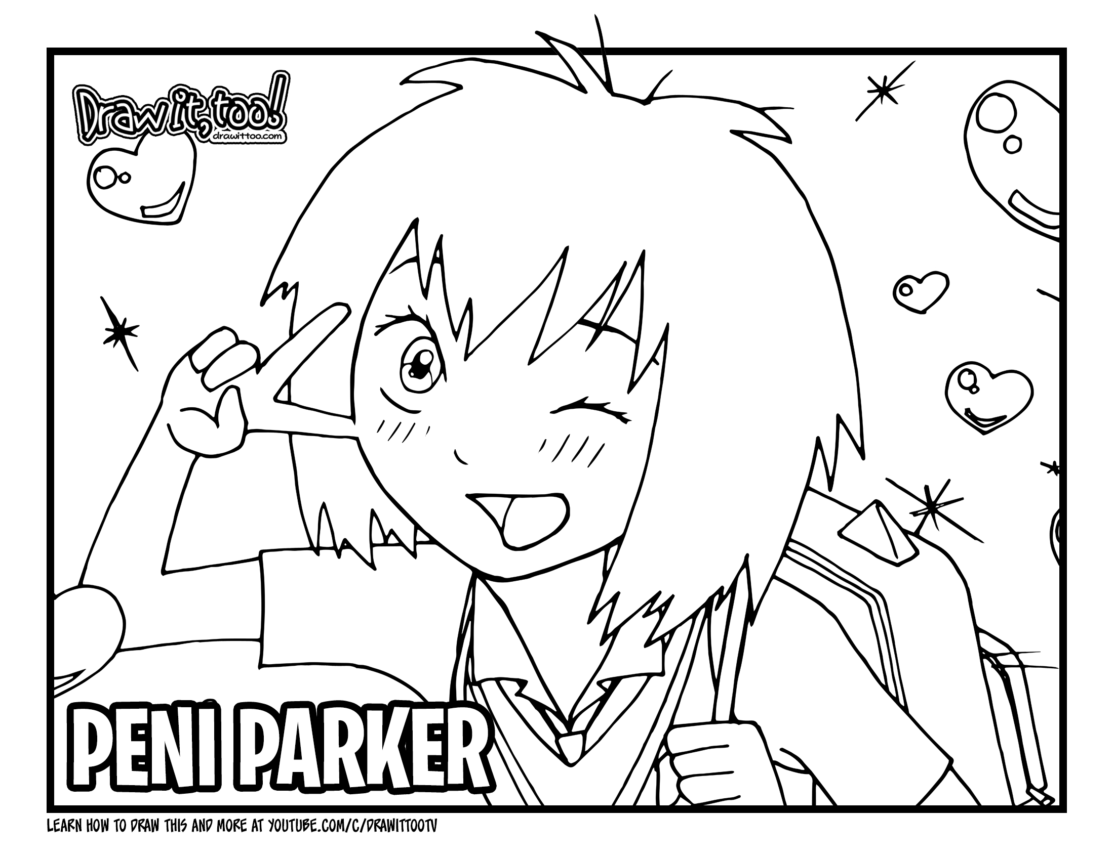 How To Draw Peni Parker Spider Man Into The Spider Verse Drawing