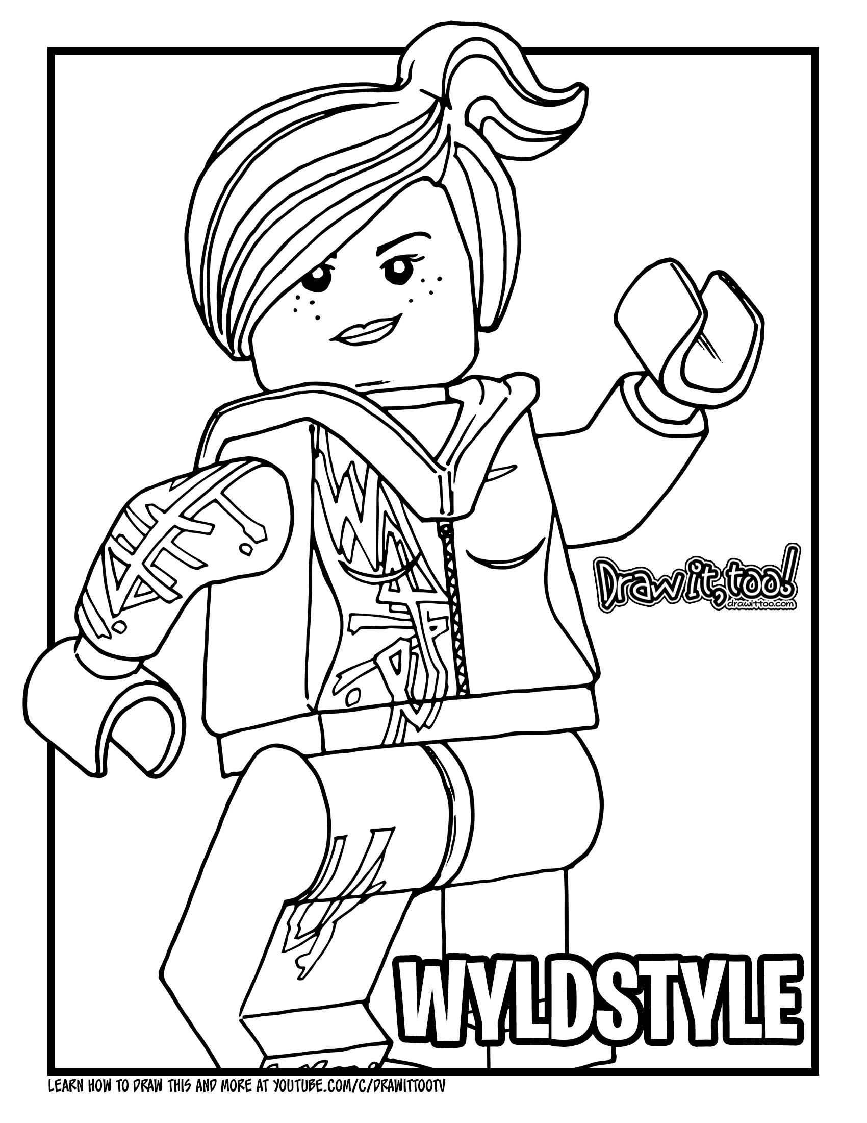How to Draw WYLDSTYLE / LUCY (The LEGO Movie) Drawing ...
