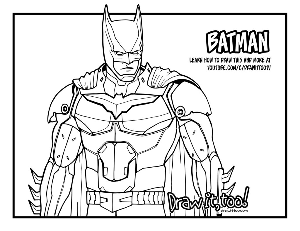 How to Draw BATMAN (Injustice 2) | Narrated Easy Step-by ...