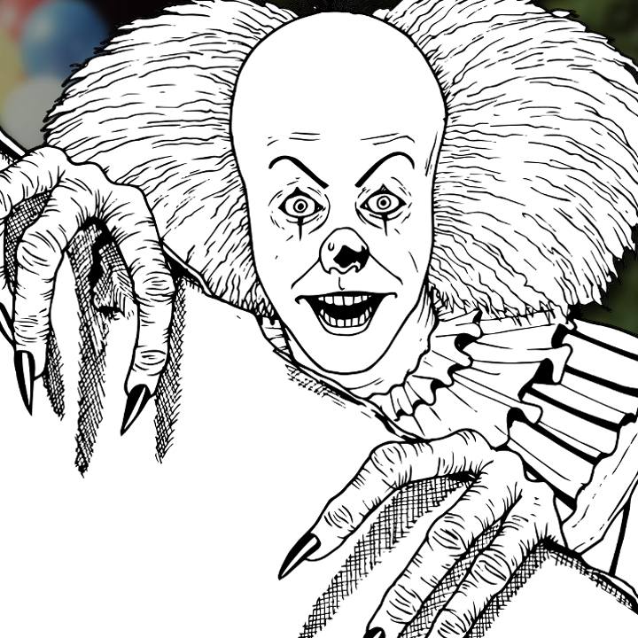 How to Draw PENNYWISE THE CLOWN (IT 1990 TV Mini-Series ...