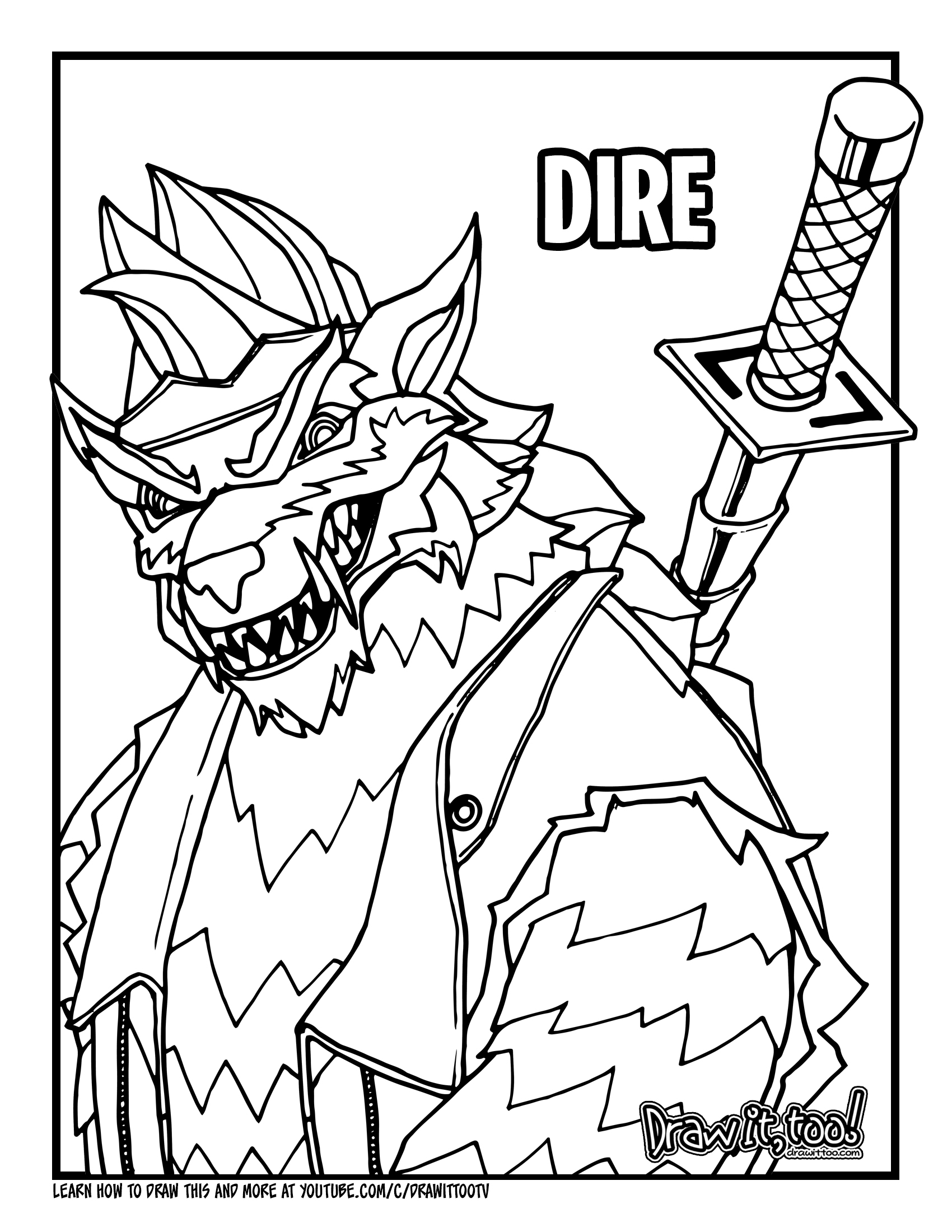Fortnite Dire - Free Coloring Pages