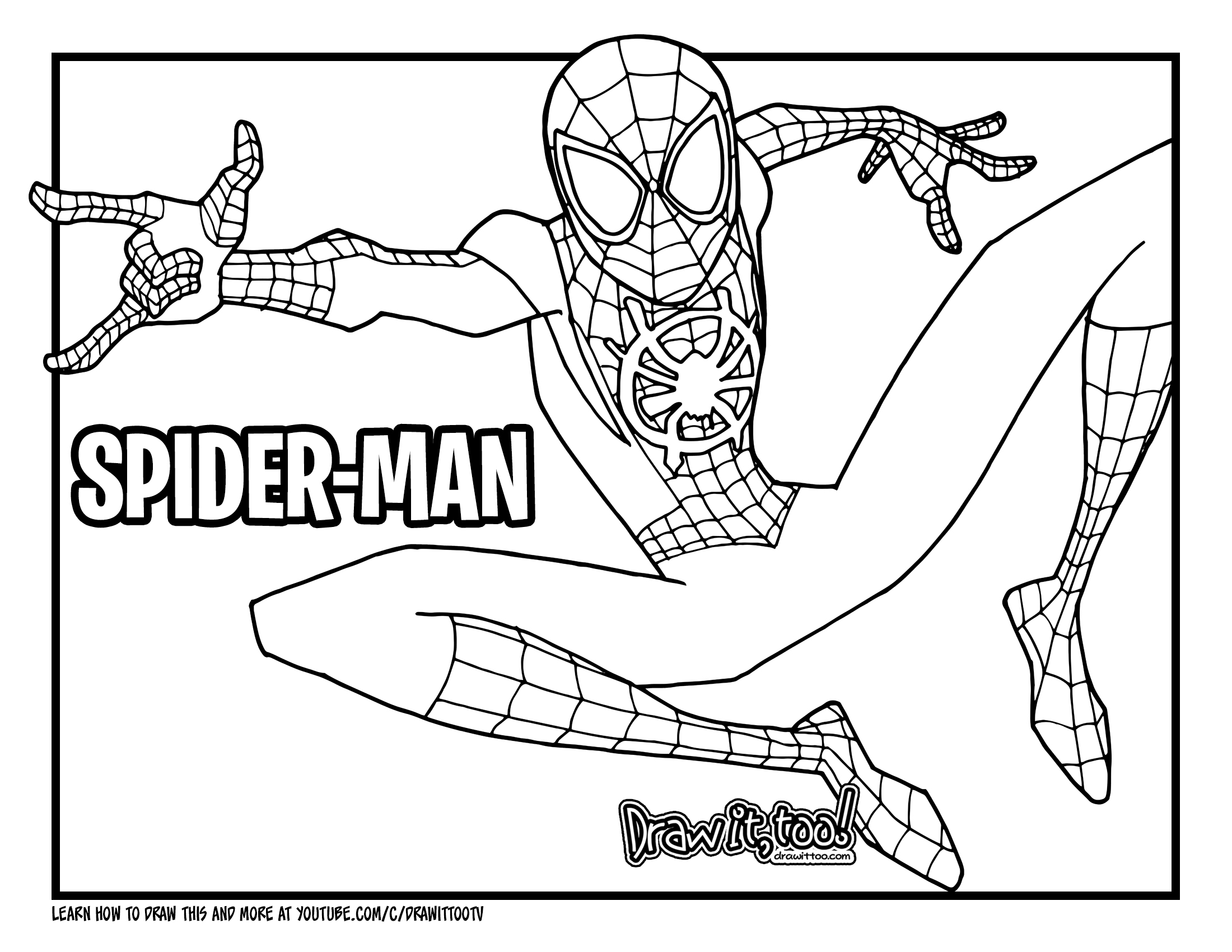How to Draw MILES MORALES SPIDER-MAN (Into the Spider ...