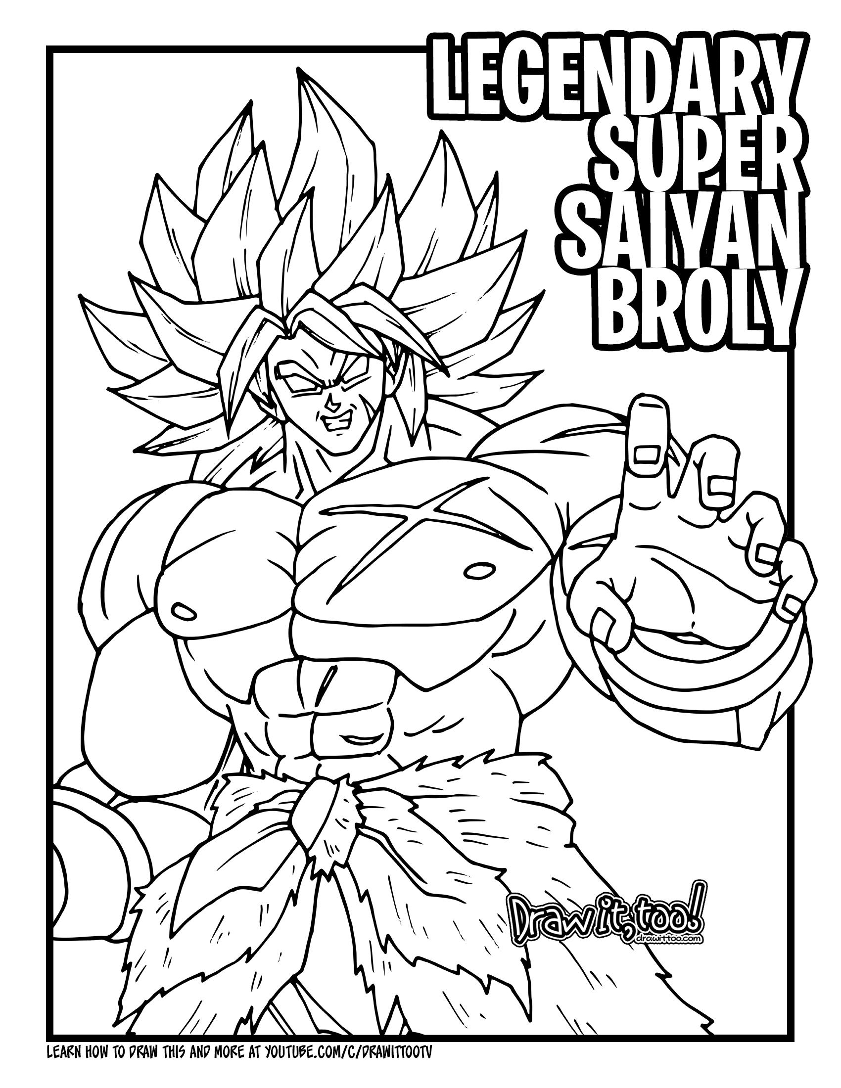 How to Draw LEGENDARY SUPER SAIYAN BROLY (Dragon Ball ...