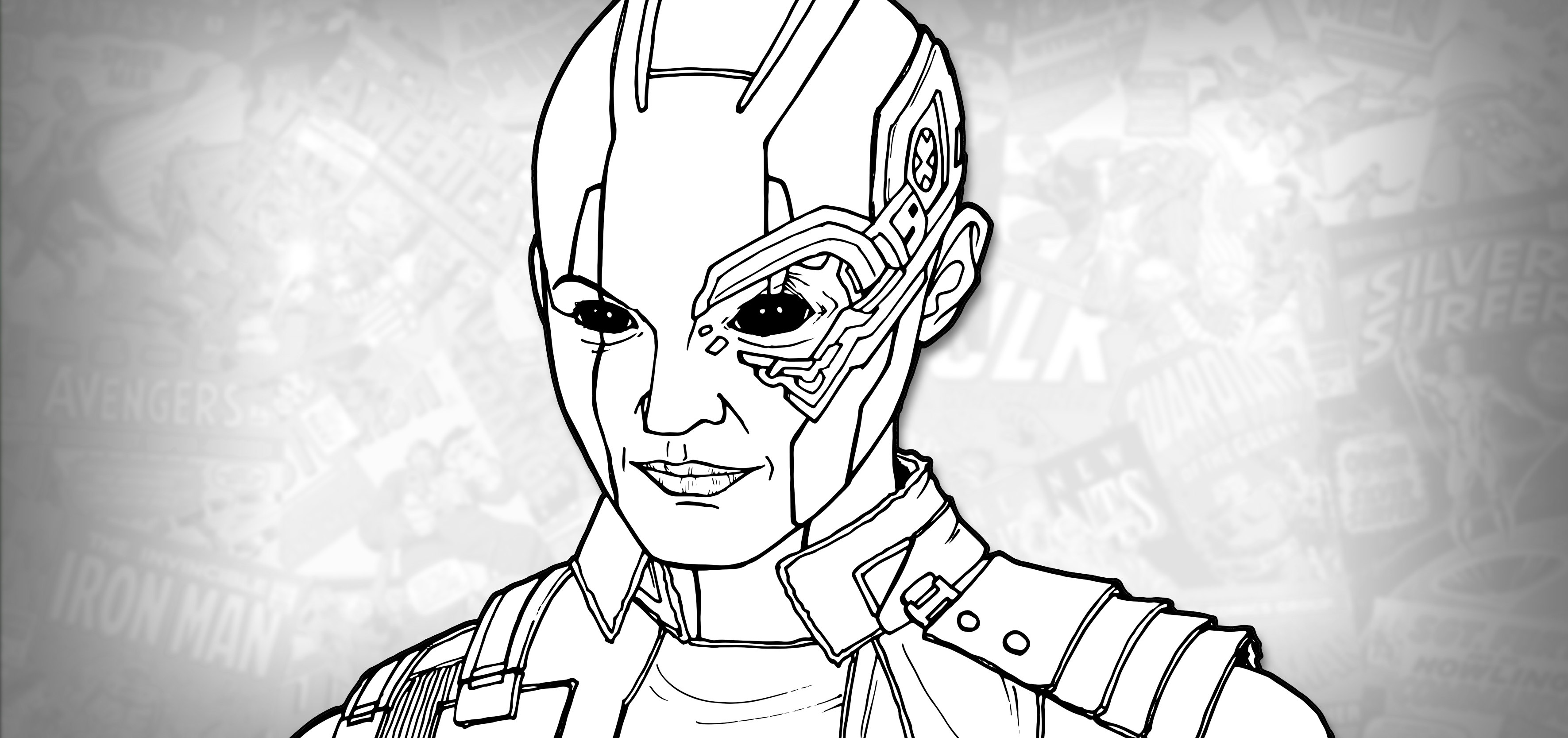 How To Draw Nebula Avengers Endgame Drawing Tutorial Draw It Too