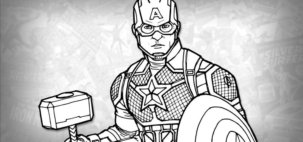 How to Draw 'WORTHY' CAPTAIN AMERICA (Avengers: Endgame ...